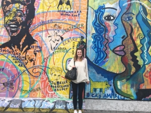 Callie Koeval at the Berlin Wall
