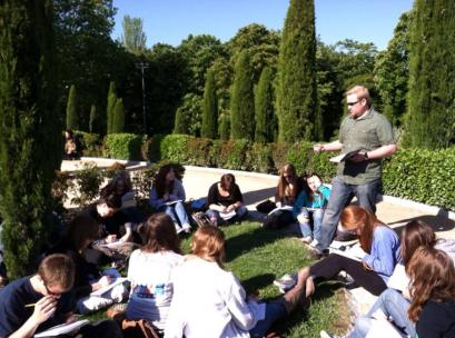 outdoor lecture