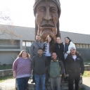 Students and Faculty at the Museum of the Cherokee Indian