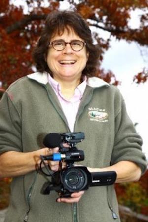 Dr. Beth Davison with camera