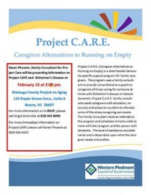 Project C.A.R.E. (Caregiver Alternatives to Running on Empty)